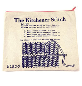 Hikoo Kitchener Stitch Zip Pouch