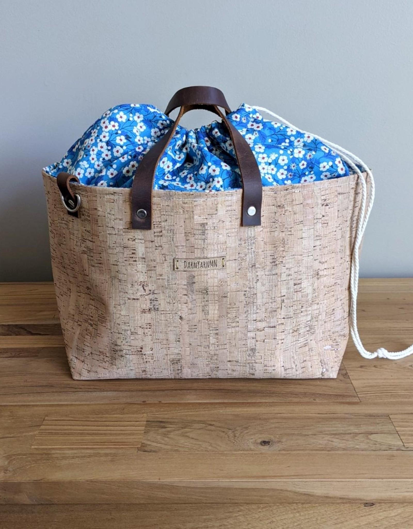 DarnYarnMN Cork and Liberty Linen Clear Water Bag