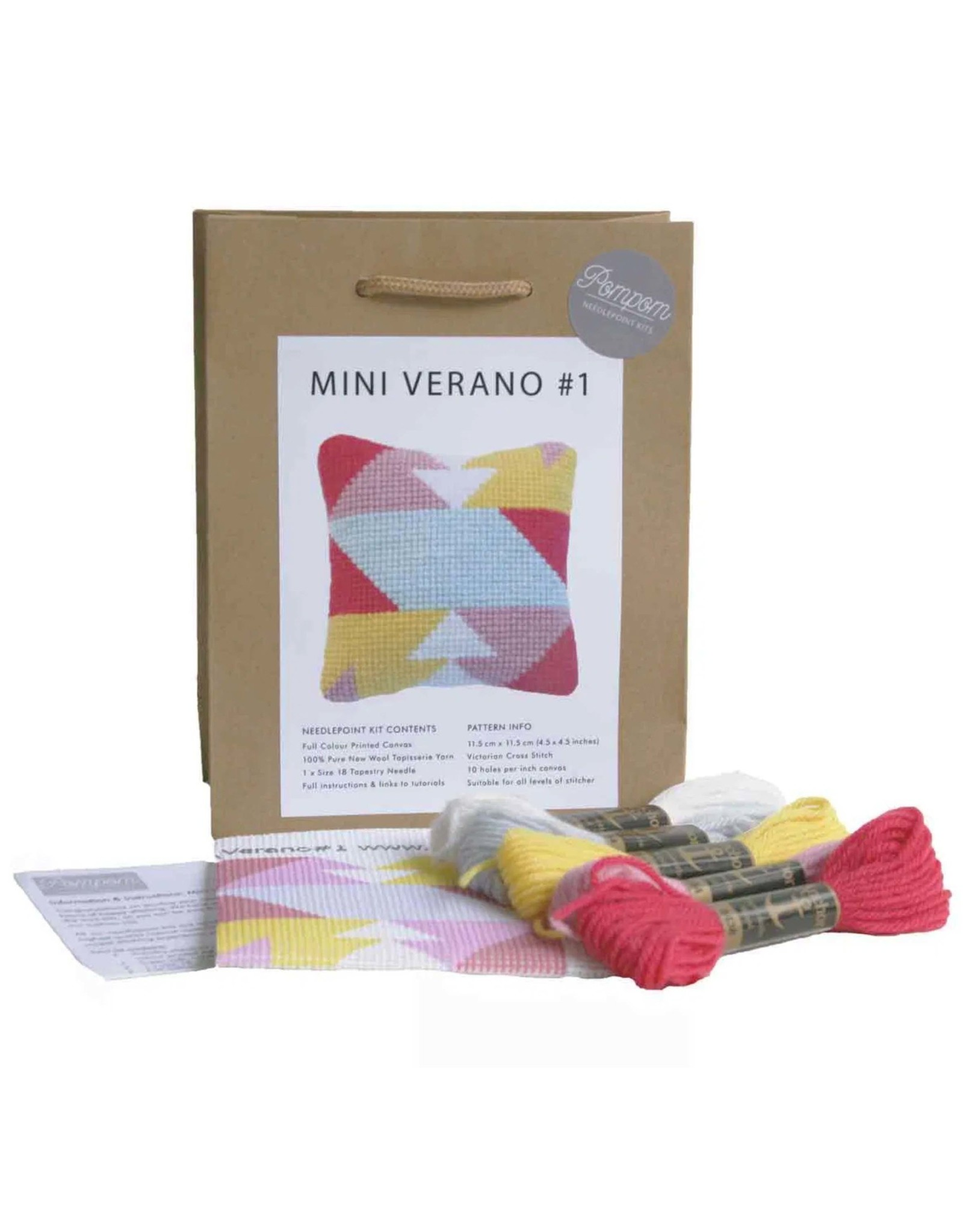 PomPom Design Needlepoint Kit