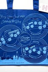 Yarn Crawl Tote 2021 Chicago Blues