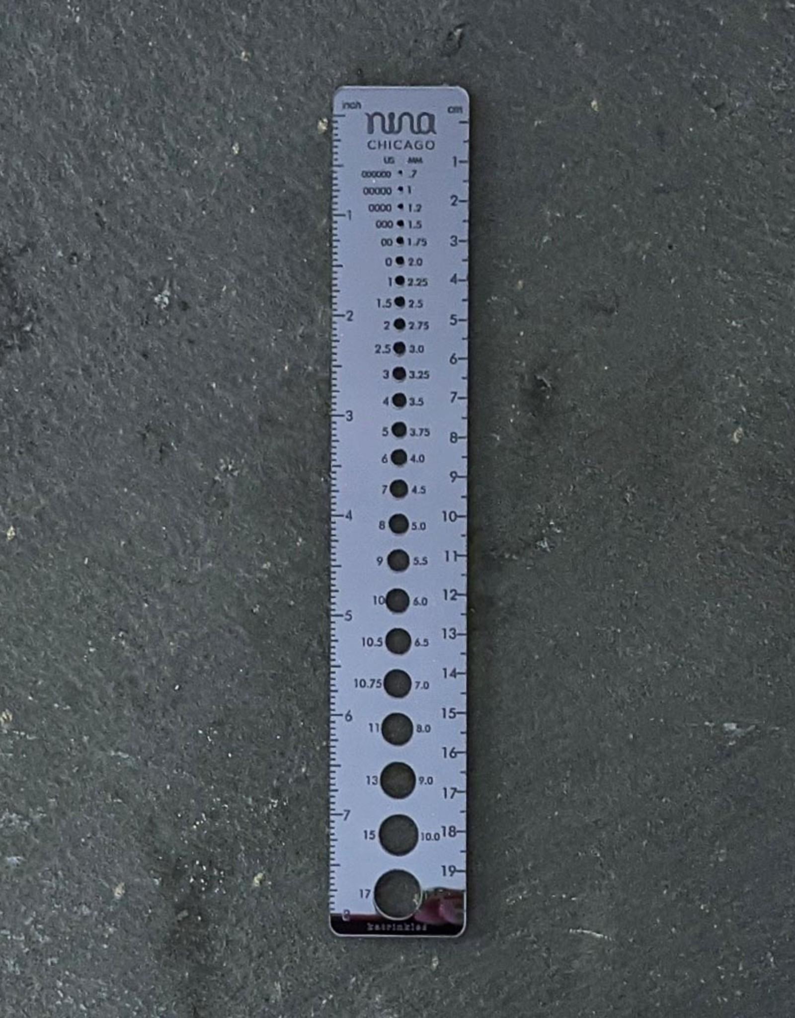 Katrinkles Nina Chicago Mirror Ruler Needle Gauge