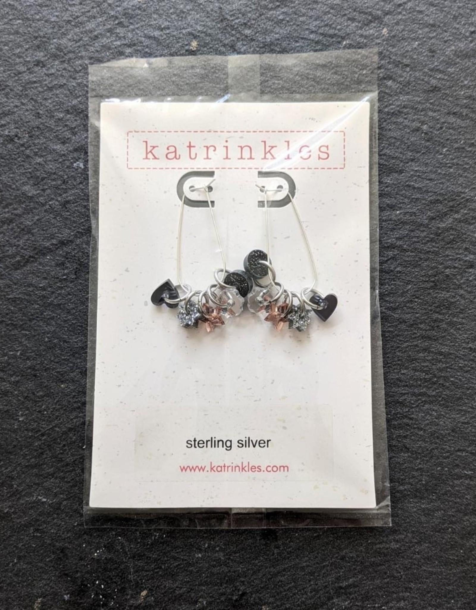 Katrinkles Stitch Marker Earrings