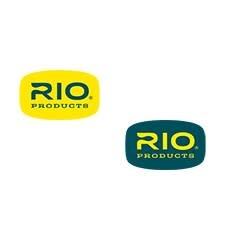 "RIO RIO LOGO DECAL 3"" X 1.875"" BLUE ON YELLOW"