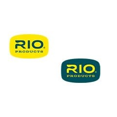 "RIO RIO LOGO DECAL 3"" X 1.875"" YELLOW ON BLUE"