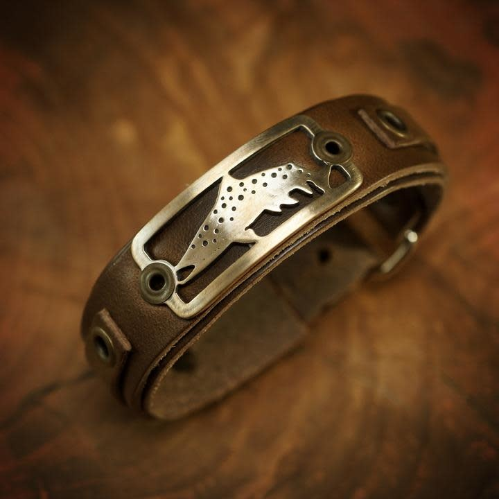 SIGHT LINE PROVISIONS SLP LOST CAST COLLECTION- KYPED BROWN TROUT BRACELET