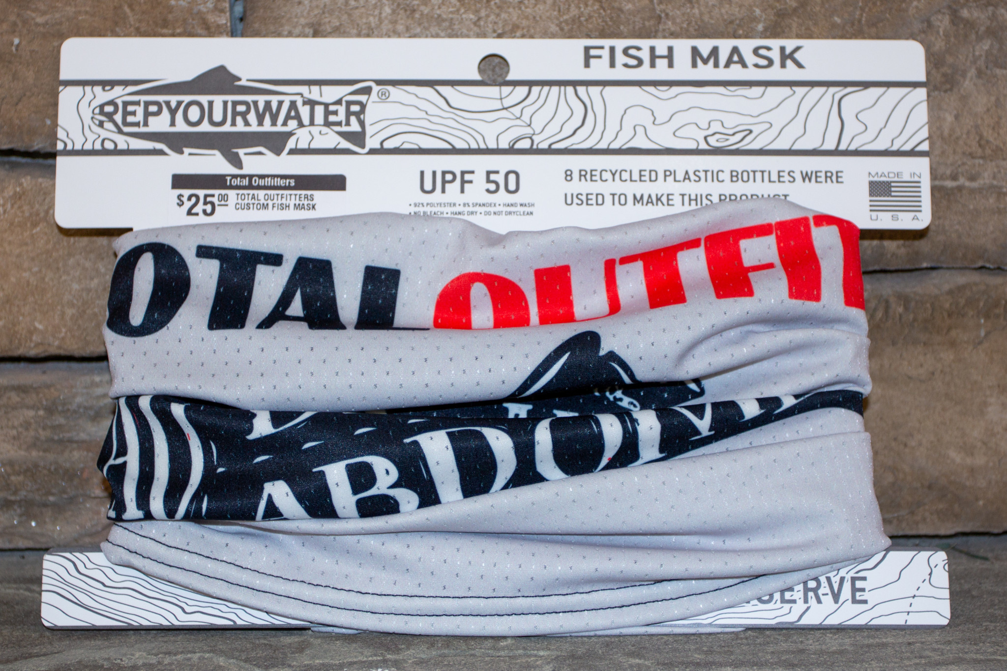 REP YOUR WATER TOTAL OUTFITTERS CUSTOM FISH MASK BY REPYOURWATER