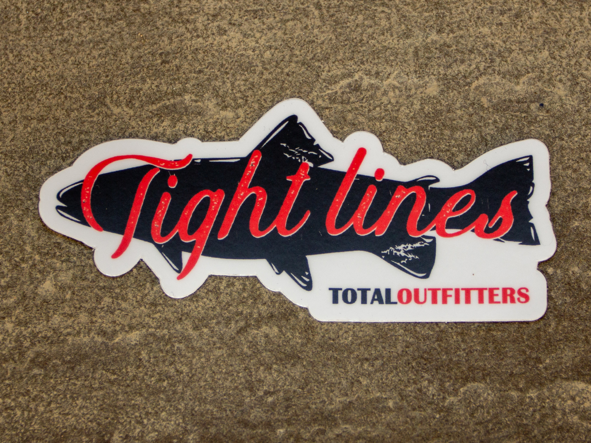 TOTAL OUTFITTERS TOTAL OUTFITTERS TIGHT LINES STICKER