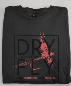 TOTAL OUTFITTERS DRY FLY ON THE BITTERROOT RIVER  L/S CREW NECK TEE