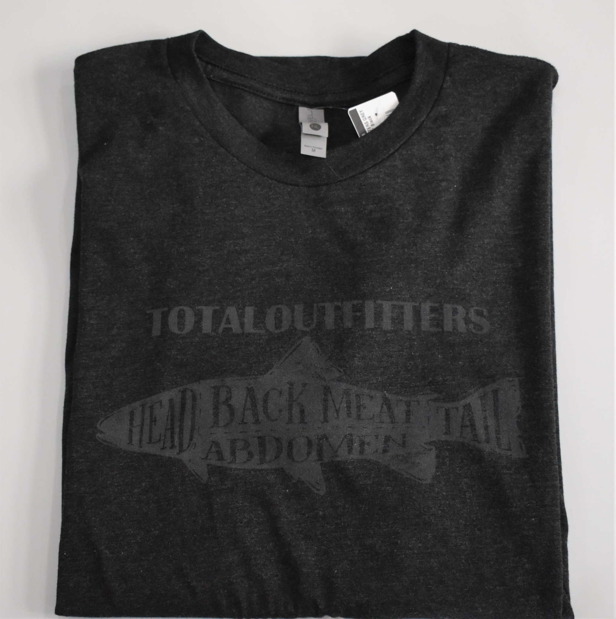 TOTAL OUTFITTERS GREY FISH LOGO T-SHIRT