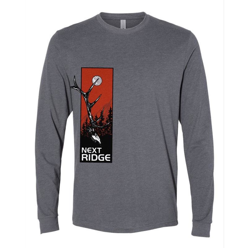 NEXT RIDGE APPAREL ELK DEADHEAD  L/S TEE