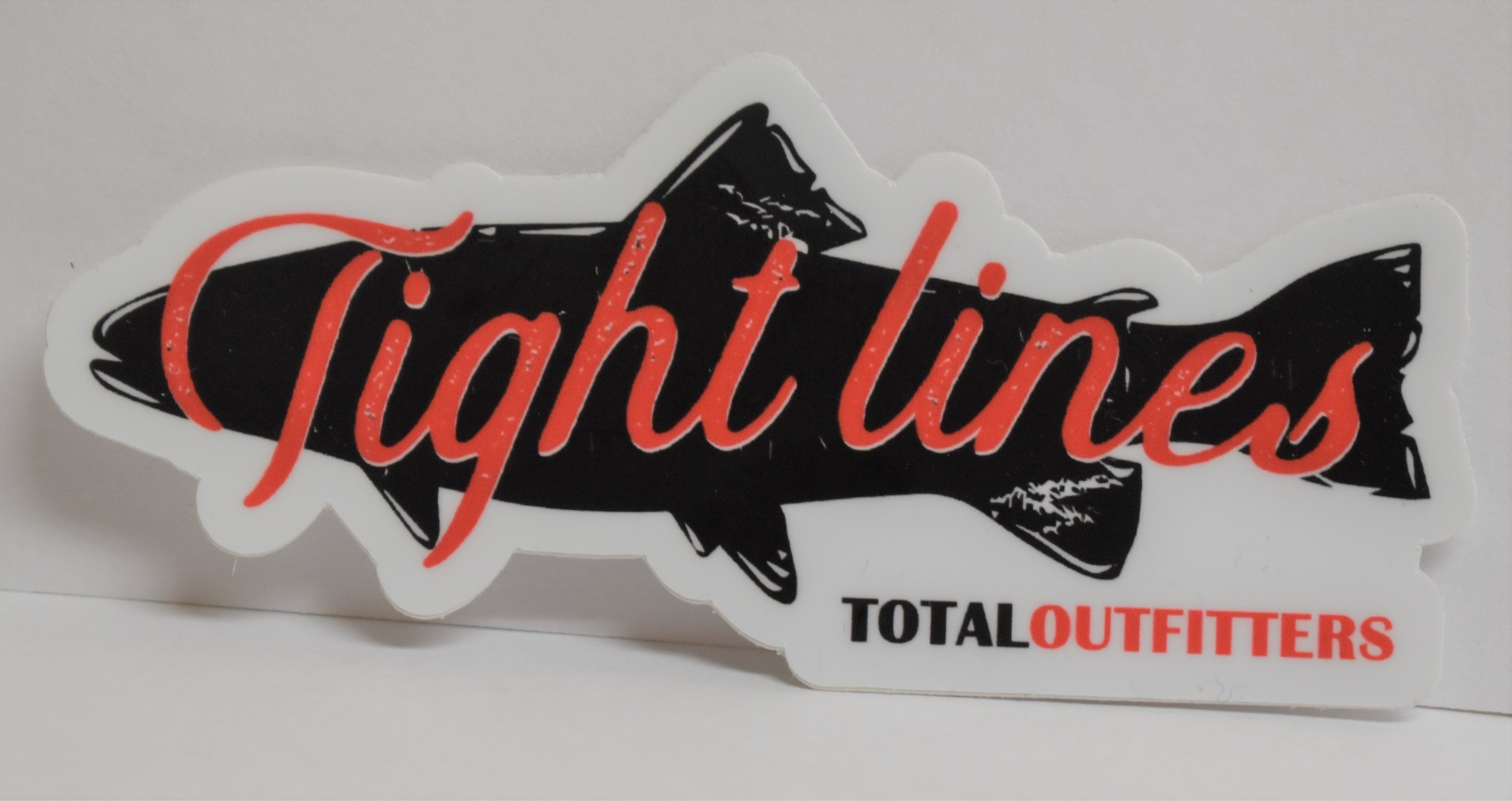 TOTAL OUTFITTERS TIGHT LINES STICKER