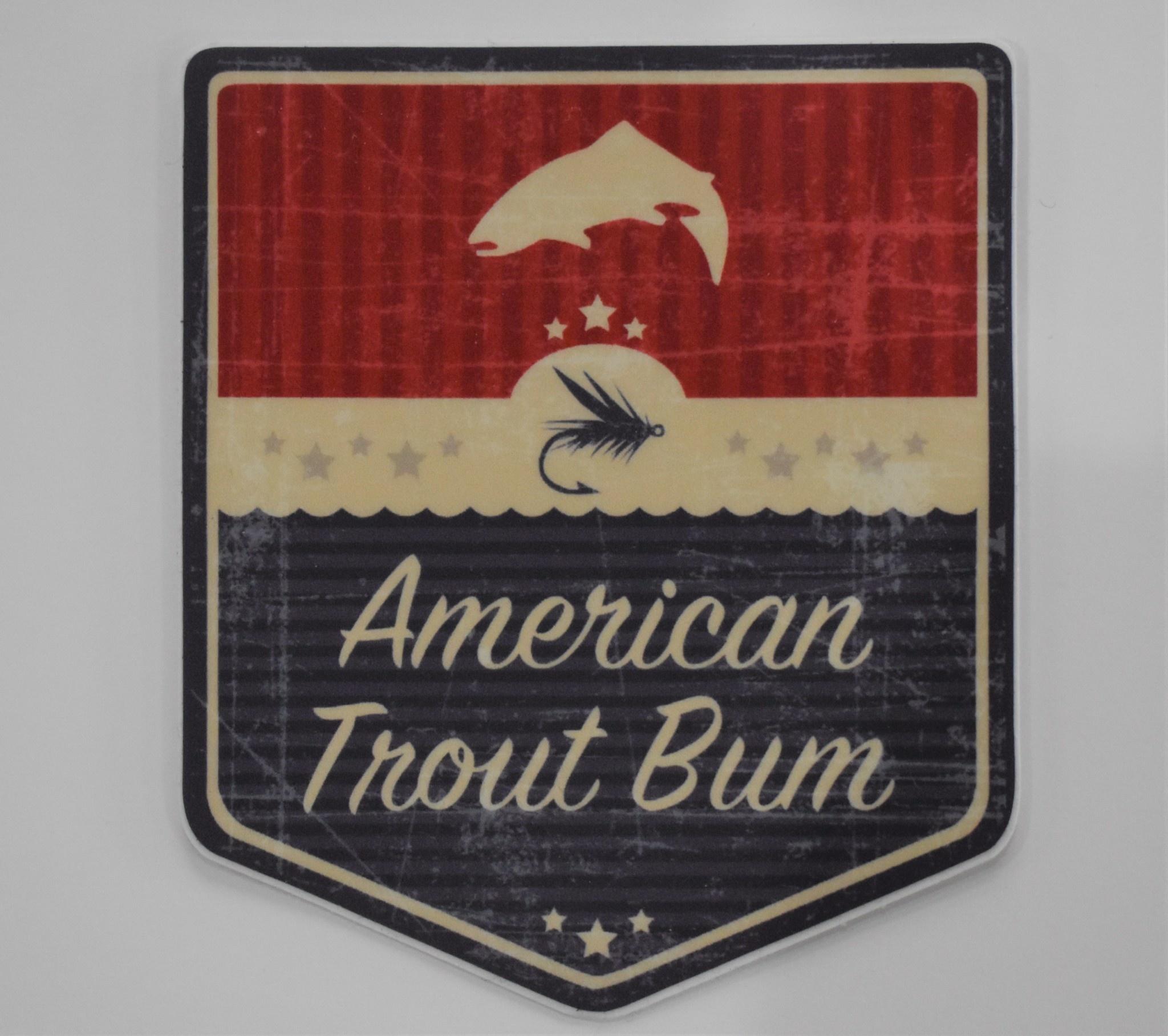 CANADIAN TROUT BUM / AMERICAN TROUT BUM American Trout Bum Shield Decal