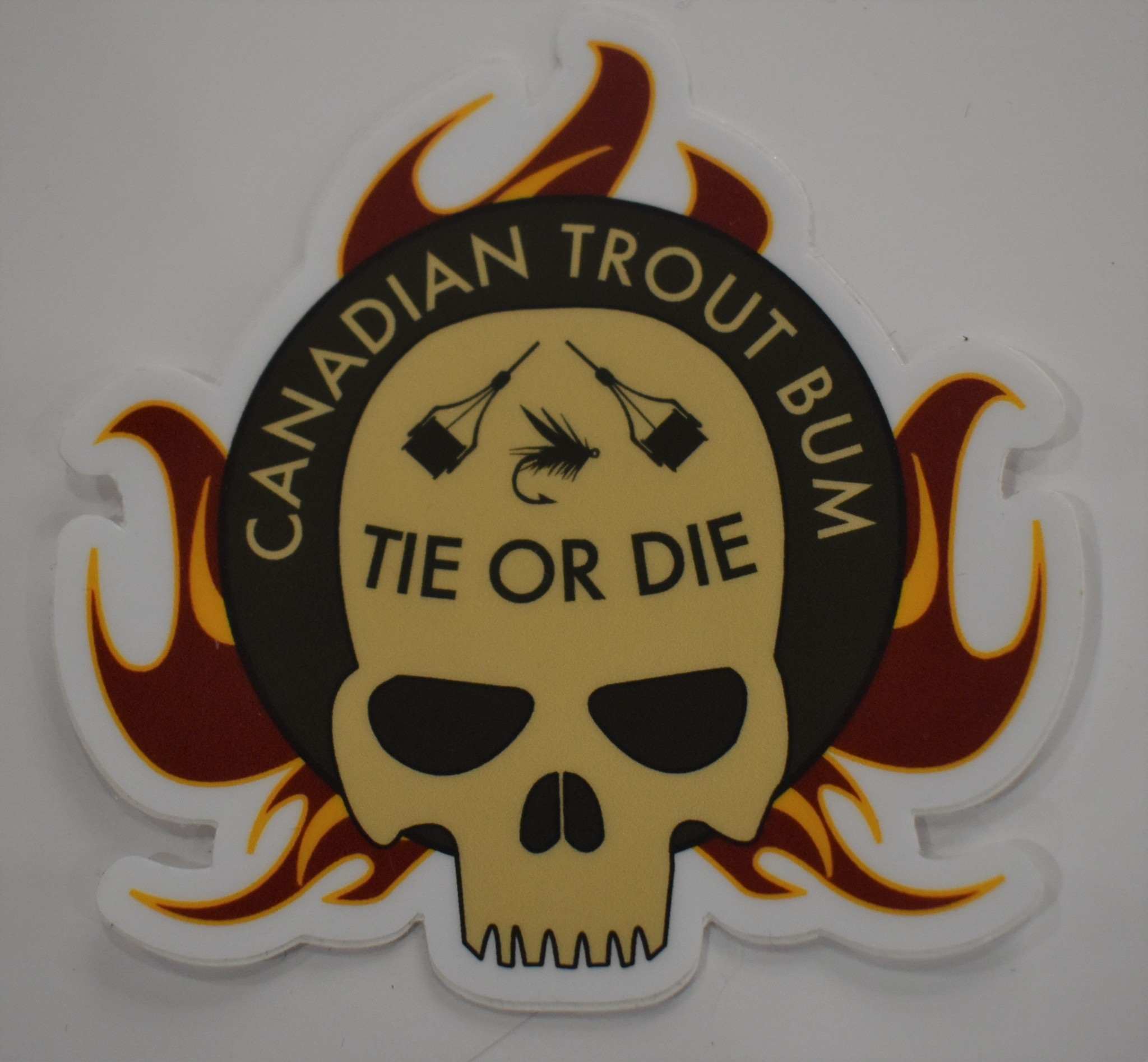 CANADIAN TROUT BUM / AMERICAN TROUT BUM Canadian Trout Bum Tie or Die Decal