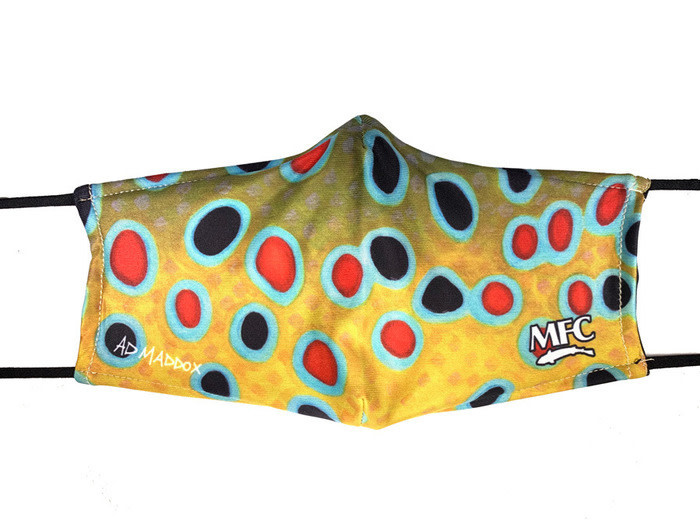 MFC MFC PM2.5 FILTER FACEMASK - MADDOX'S XI TROUT SKIN
