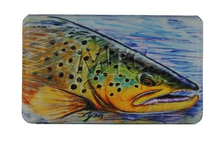 MFC MFC MIDGE FLYWEIGHT FLY BOX - HALLOCK'S BROWN TROUT