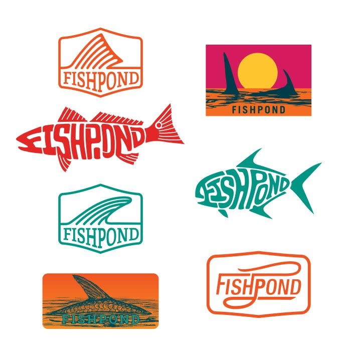 FISHPOND FISHPOND SALTY STICKER BUNDLE