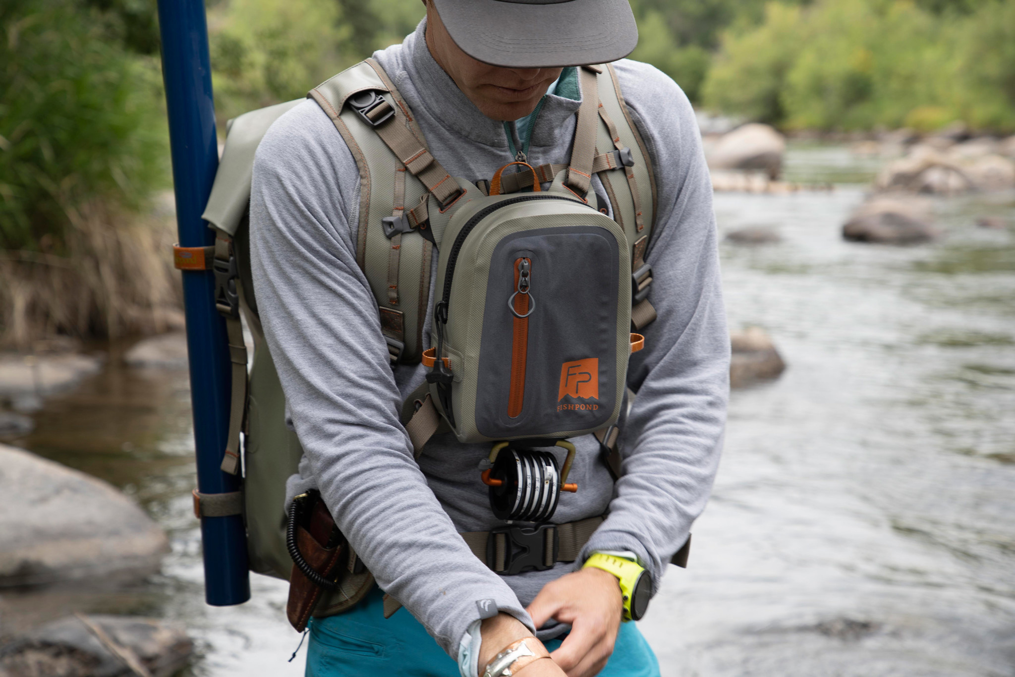 FISHPOND FISHPOND THUNDERHEAD CHEST PACK - Shale  (PACK ONLY)