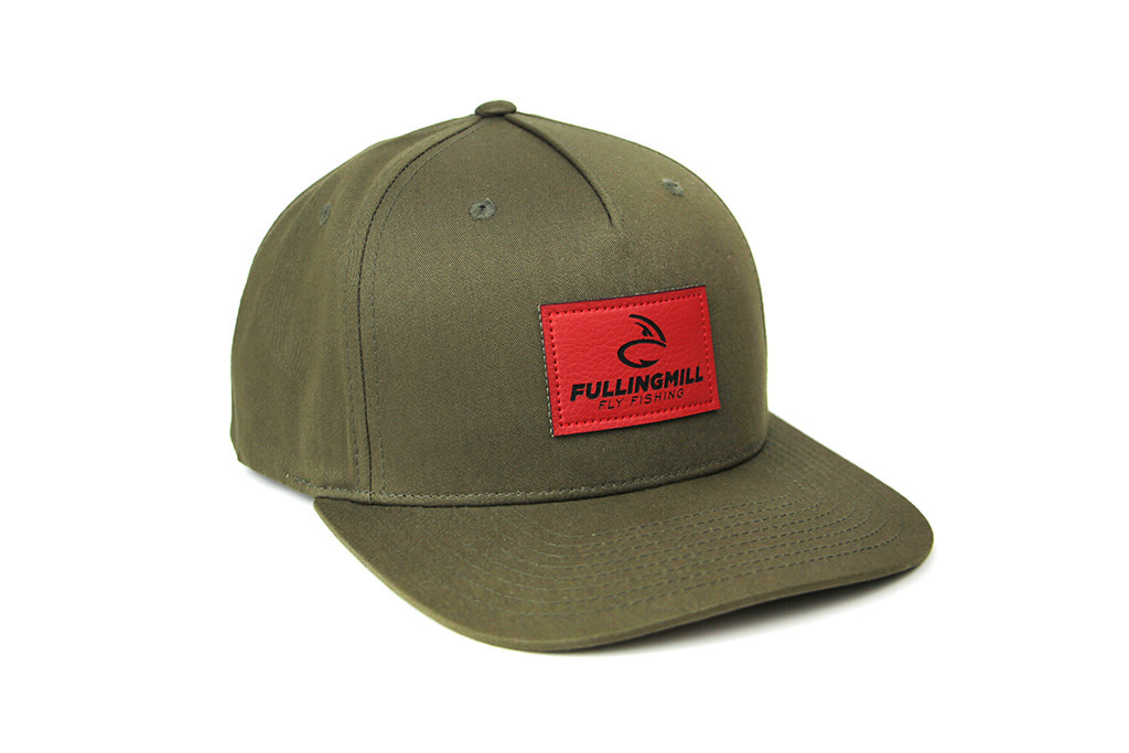 FULLING MILL Pinch Front Cotton Green Cap FM LOGO
