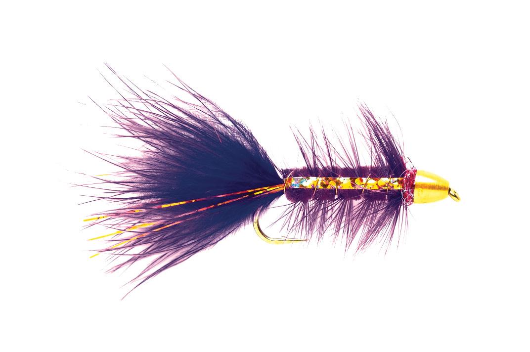 FULLING MILL Woolly Bugger Purple Flash CH S6