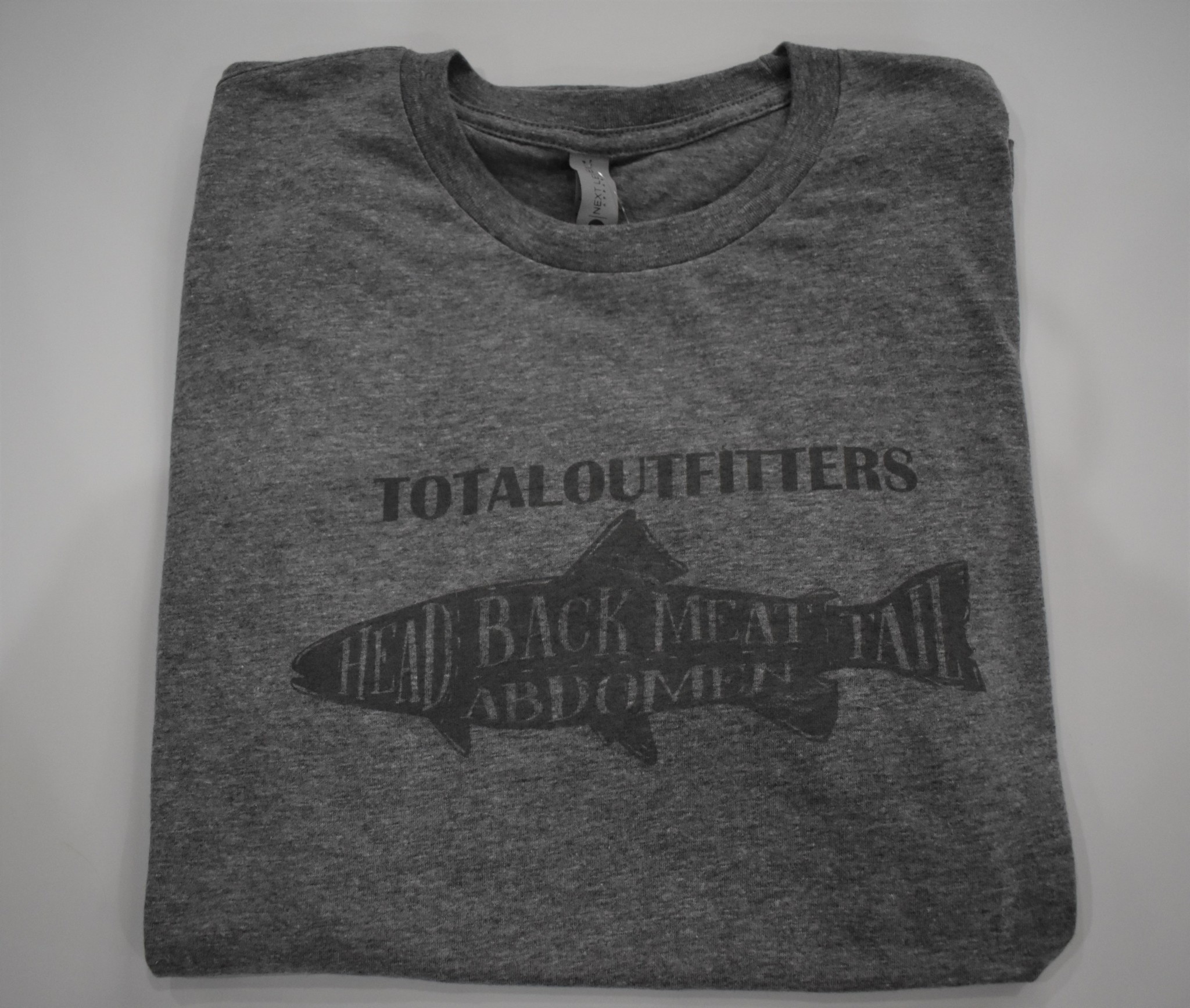TOTAL OUTFITTERS TOTAL OUTFITTERS GREY LOGO T-SHIRT
