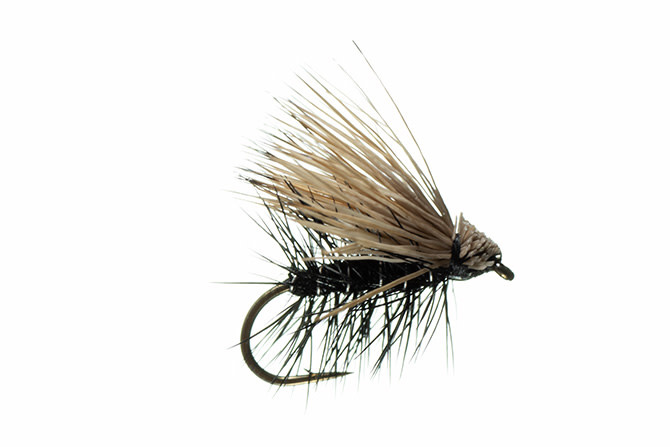 MFC Elk Hair Caddis -MFC Black S18  [Single]