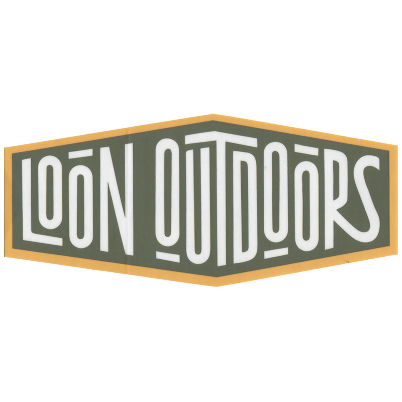 LOON OUTDOORS LOON Outdoors  X David Rollyn Text Y/G/W Sticker