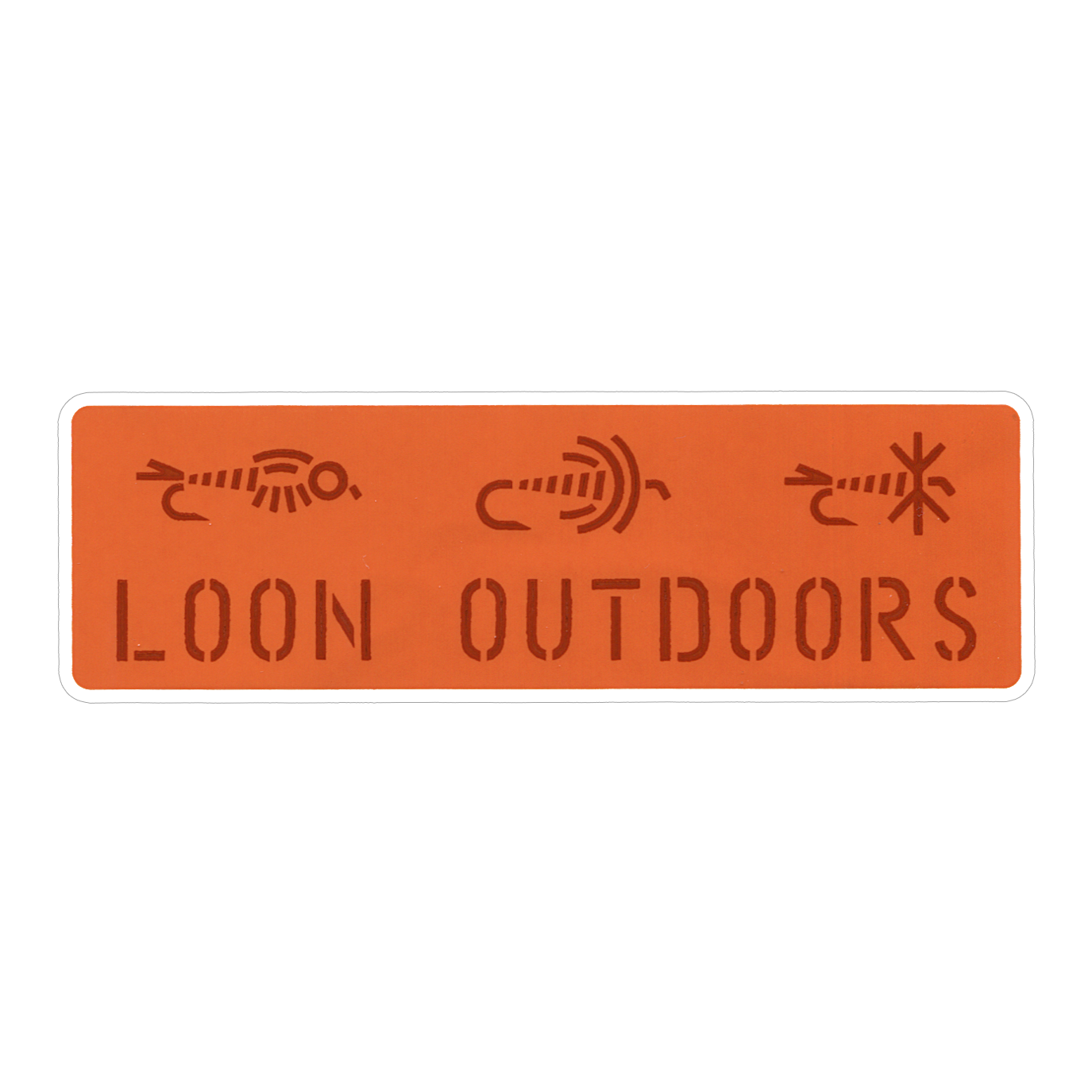 LOON OUTDOORS LOON X David Rollyn Flies Sticker