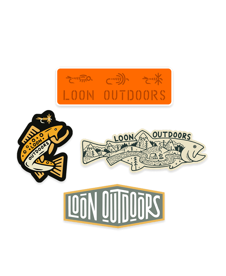 LOON OUTDOORS LOON X David Rollyn Sticker Pack