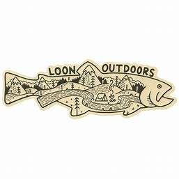 LOON OUTDOORS LOON Outdoors X David Rollyn Landscape Trout Sticker