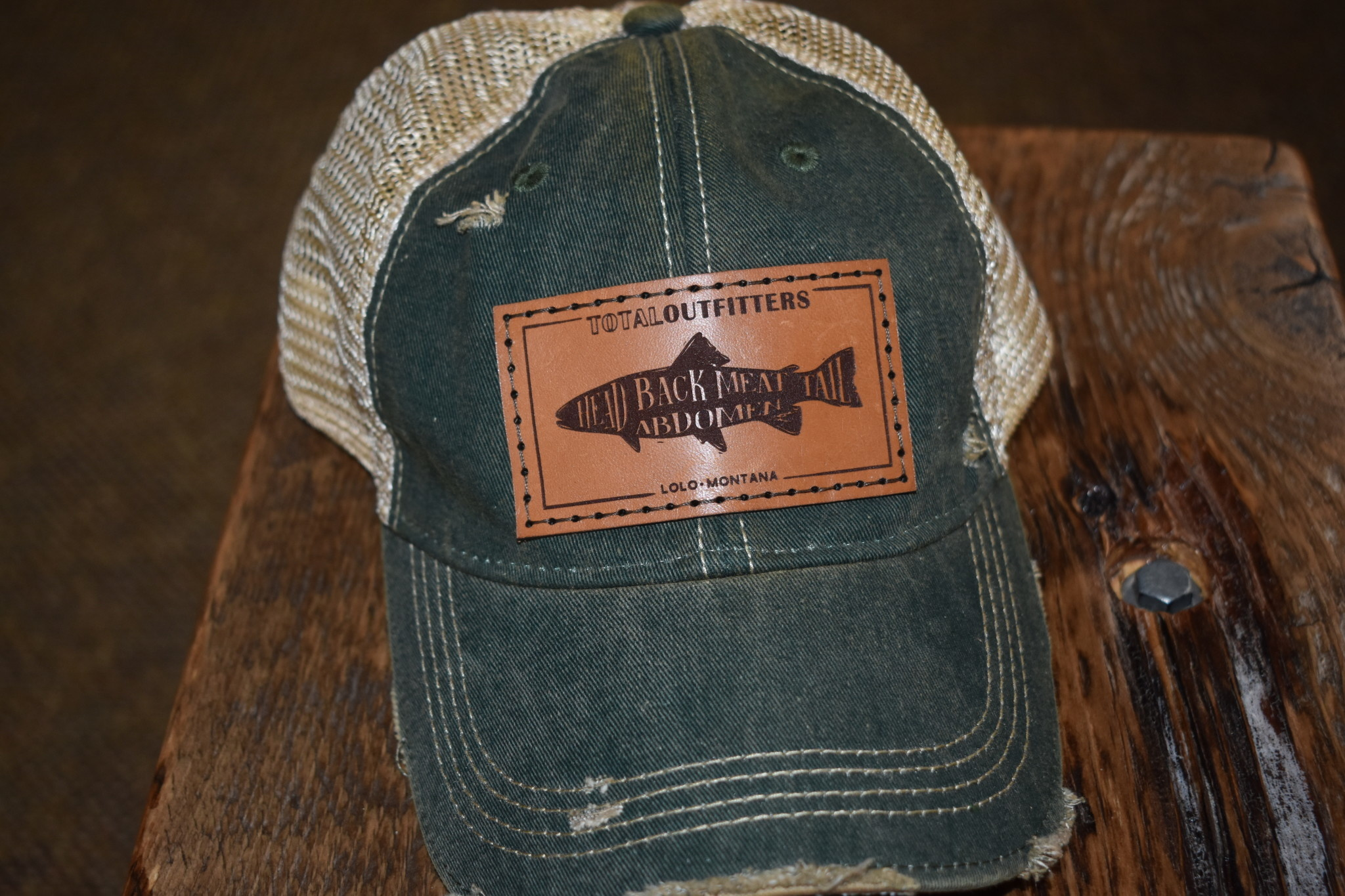 TOTAL OUTFITTERS TOTAL OUTFITTERS LEATHER LOGO HAT