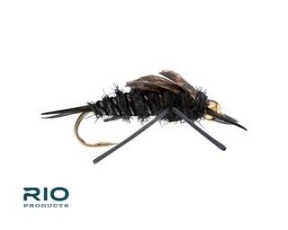 RIO RIO Rubber Legs Stonefly Bead Black S4  [Single]