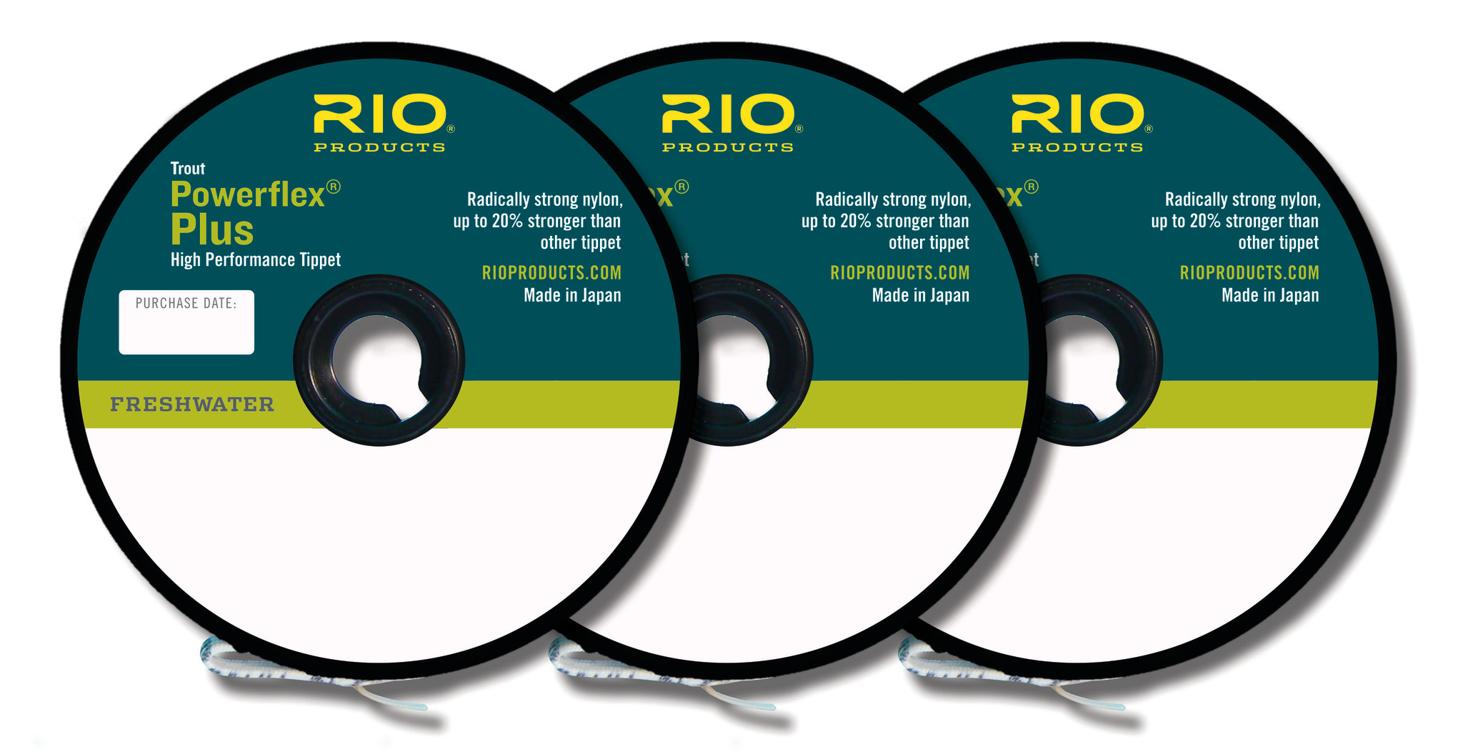 RIO RIO POWERFLEX PLUS TIPPET 3-PACK