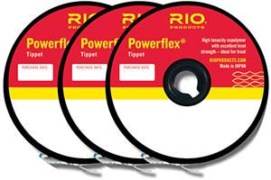 RIO RIO POWERFLEX TIPPET 3-PACK