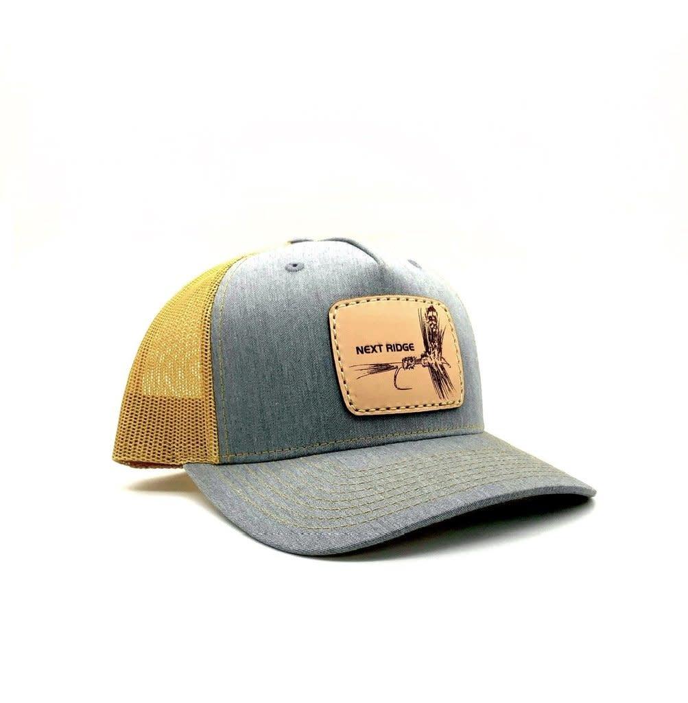 NEXT RIDGE APPAREL NEXT RIDGE - TIGHT LINES HAT -R112FP - Leather Patch