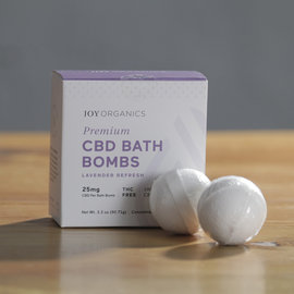 Joy Organics Premium CBD Bath Bombs - 25mg