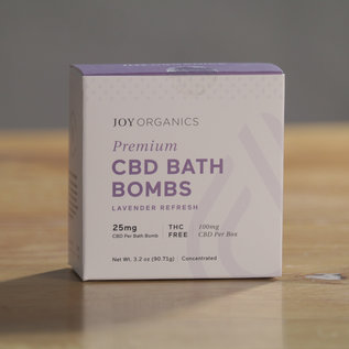 Joy Organics Four Premium CBD Bath Bombs - 25mg