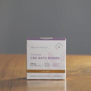 Joy Organics Four Premium CBD Bath Bombs - 25mg
