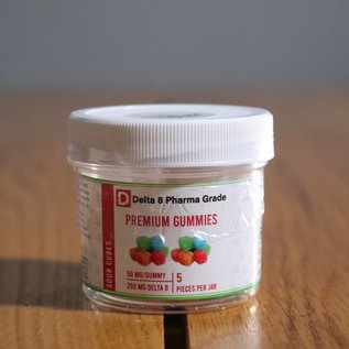Delta 8 Pharma Grade PG Gummies D8 Sour Bears 50mg ea.