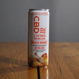 CBDL Sparkling Water Peach Honey