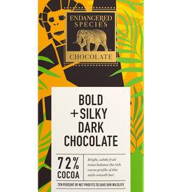 Endangered Species Endangered Species - Dark Chocolate Bar, Chimpanzee Smooth Dark 72%