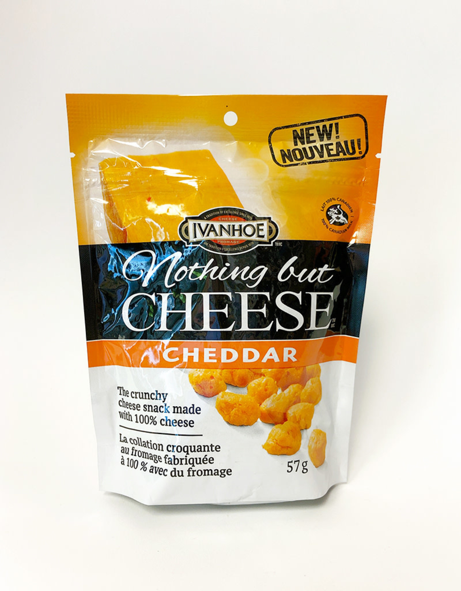 Ivanhoe Cheese Ivanhoe Cheese - Nothing But Cheese, Cheddar (57g)