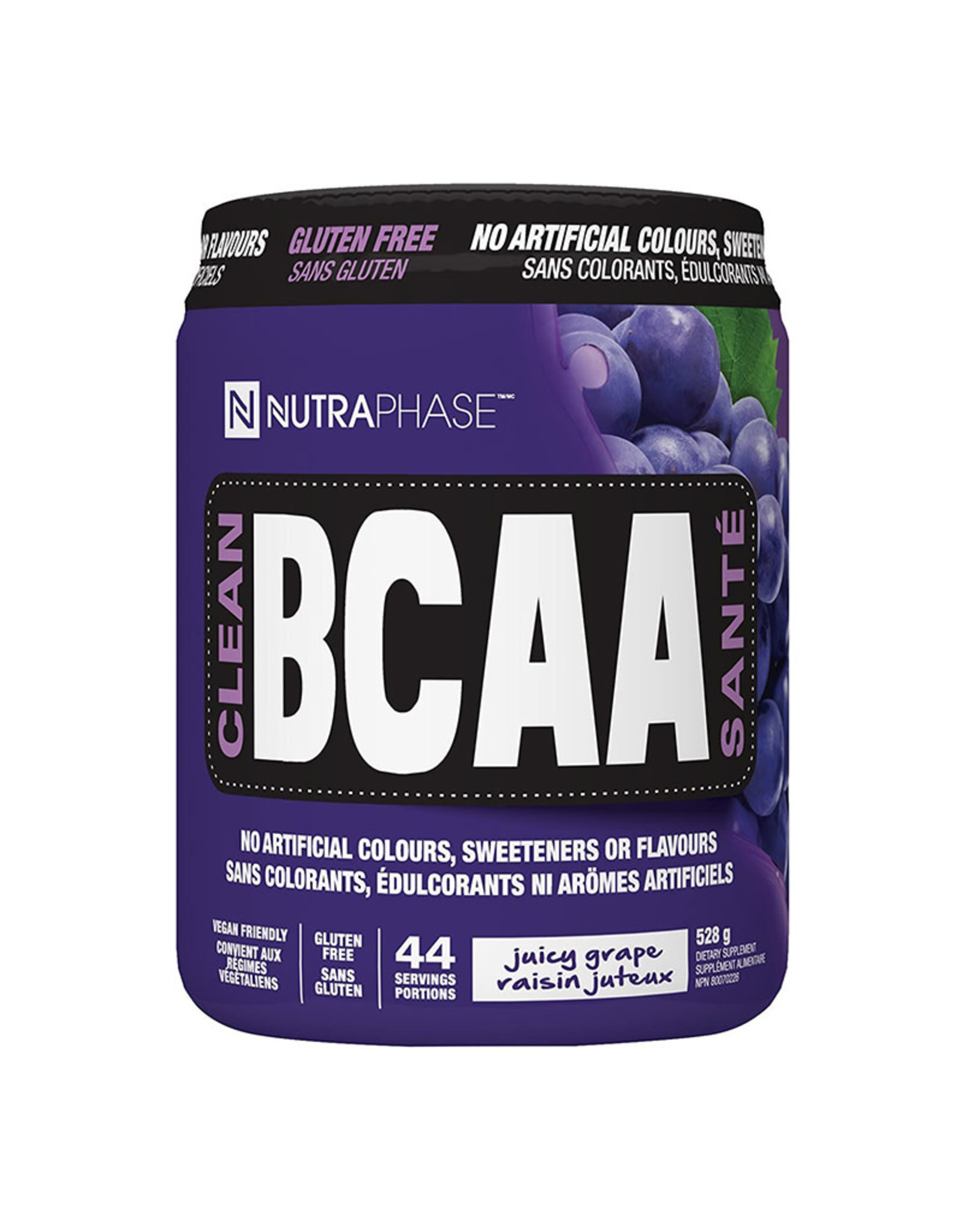 NutraPhase Nutraphase - Clean BCAAs, Grape (528g)