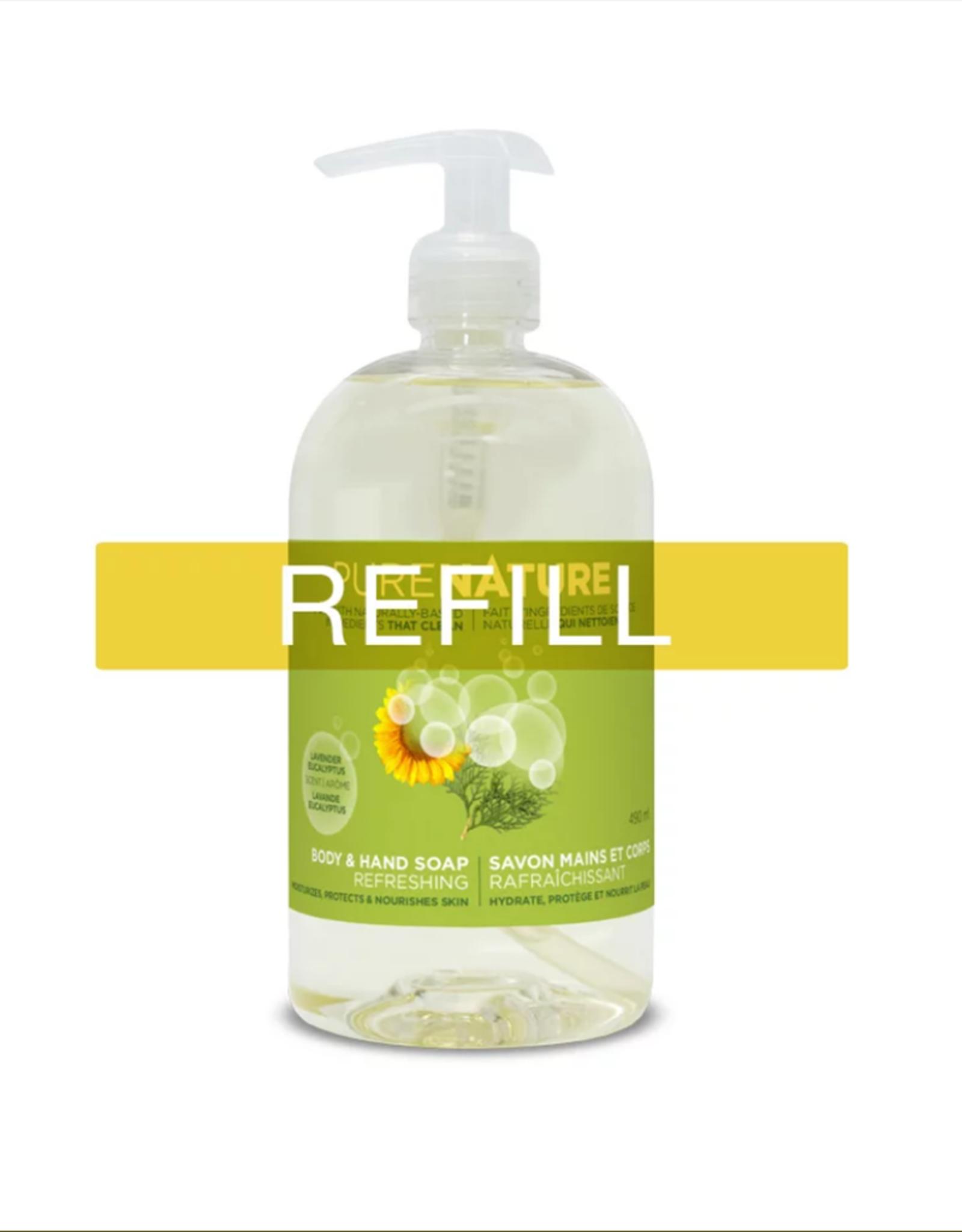 Purenature Purenature - Body Care, Moisturizing Hands & Body Soap Refreshing Skin - REFILL