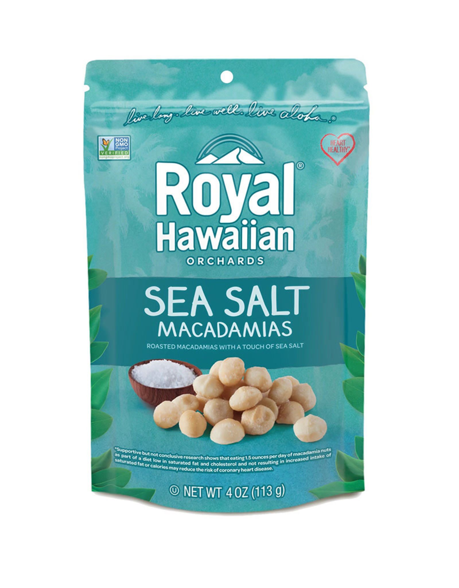 Royal Hawaiian Orchards Royal Hawaiian Orchards - Macadamia Nuts, Sea Salt (113g)