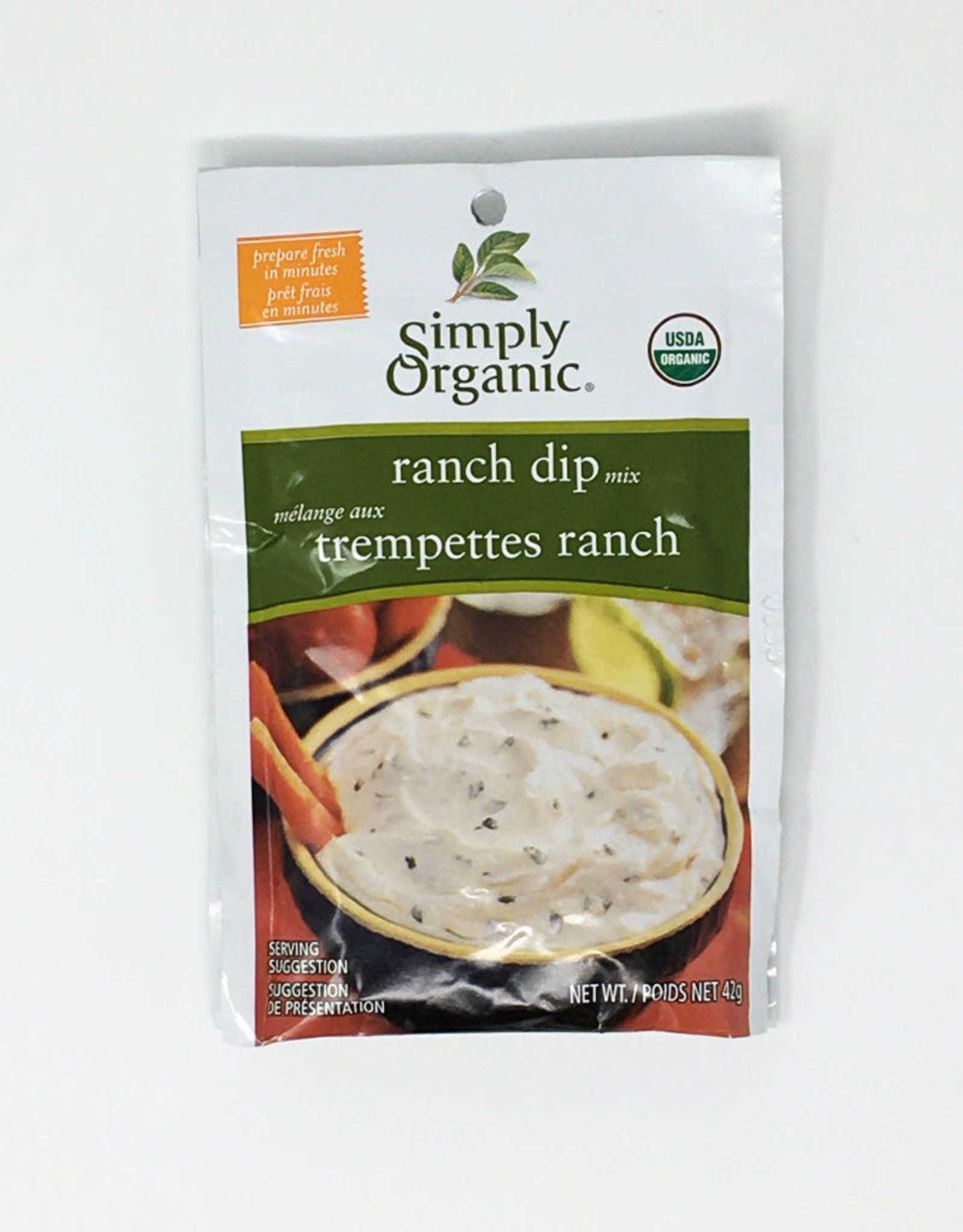 Simply Organic Simply Organic - Seasoning Mix, Ranch Dip