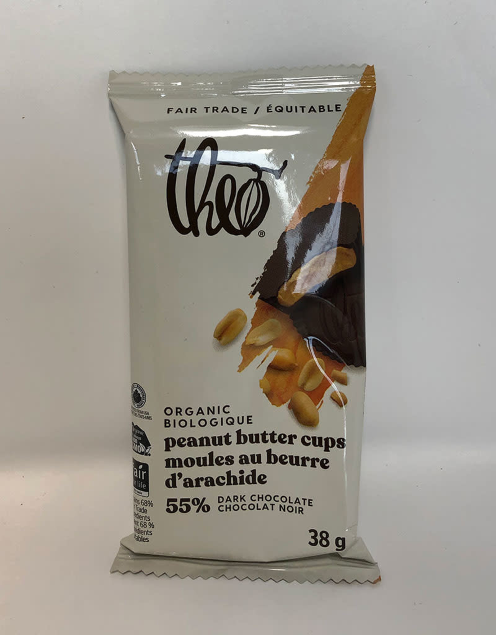 Theo Theo - Dark Chocolate, Peanut Butter Cups (38g)