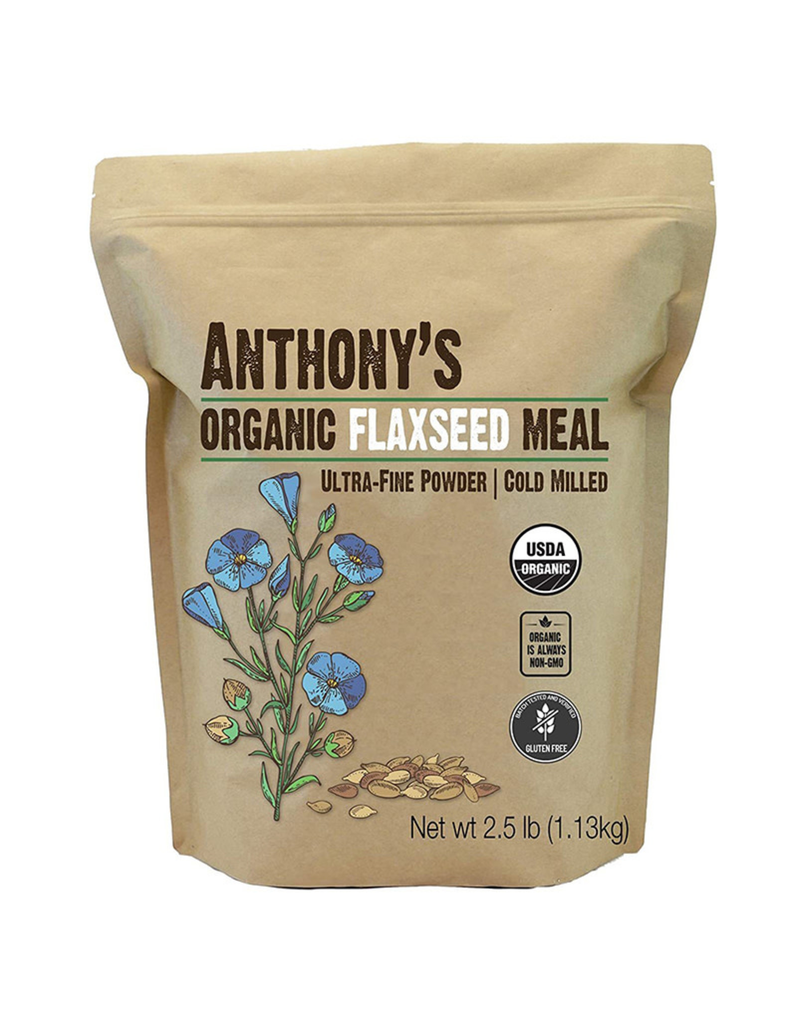 Anthonys Goods Anthonys Goods - Organic Flaxseed Meal (1.13kg)