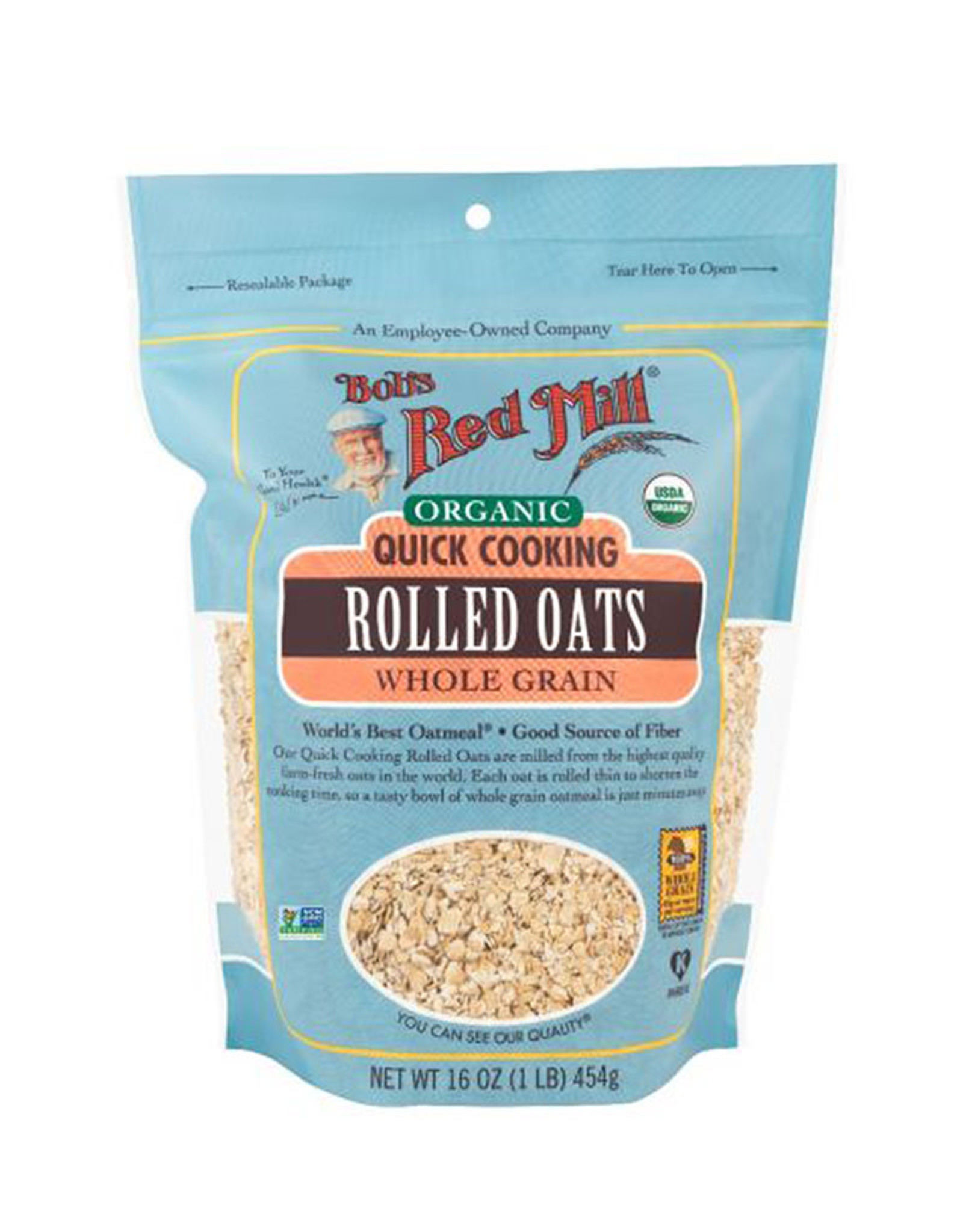 Bobs Red Mill Bobs Red Mill - Organic Rolled Oats, Quick (454g)