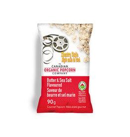 Canadian Organic Popcorn Canadian Organic Popcorn - Butter & Sea Salt (90g)