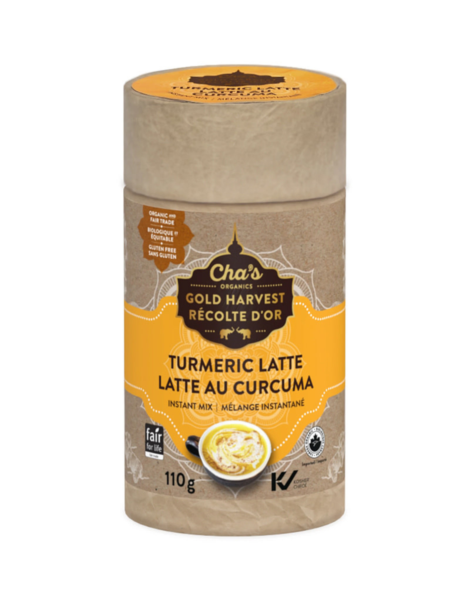 Chas Organics Chas Organics - Instant Mix, Turmeric Latte (110g)